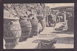 CPA Crète GRECE écrite Cnossos - Grecia