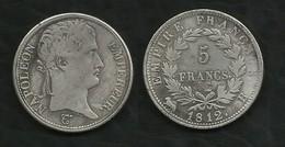 FAUSSE PIECE DE 5 FRANCS NAPOLEON I . 1812B . - France