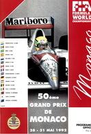 Programme Du Grand Prix De Monaco F1 1992 Très Bon état - Automovilismo - F1
