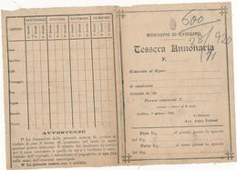 1940 AVELLINO TESSERA ANNONARIA NUOVA - Vecchi Documenti