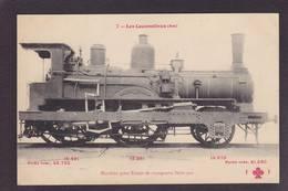 CPA Locomotive FLEURY Légende Rouge Chemin De Fer Train Non Circulé - Trains