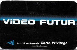 VIDÉO FUTUR CARTE ABONNEMENT CARTE PRIVILÈGE VERSO AIX EN PROVENCE 13 BOUCHES DU RHONE - Subscription