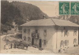 Thonon'les'Bains  74 E De La Drance-Animée-Attelage Caleche Devant L'Auberge Du Pont De Aioche Tres Animée - Thonon-les-Bains