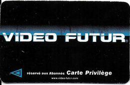 """VIDÉO FUTUR CARTE ABONNEMENT CARTE PRIVILÈGE VERSO AIX EN PROVENCE 13 BOUCHES DU RHÔNE VARIANTE TEXTE """"OUVERT"""" - Subscription"""