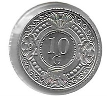 *neth Antilles  10 Cent 1991  Km 34   Bu - Antille Olandesi