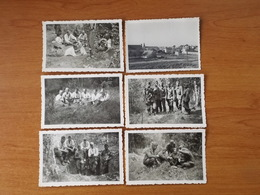 ILE DE GROIX  WW2 GUERRE 39 45 BRETAGNE  TROUPES ALLEMANDES SUR L ILE BOURG EGLISE TUDY 7 CLICHES - Groix