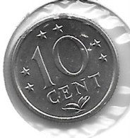 *neth Antilles  10 Cent 1980  Km 10   Bu - Antille Olandesi