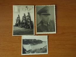 ILE DE GROIX  WW2 GUERRE 39 45 BRETAGNE  TROUPES ALLEMANDES SUR L ILE PLAGE OFFICIER MORTIER - Groix