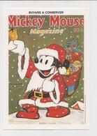 Buvard  -  WALT DISNEY    MICKEY En Père Noël, Jouets - Buvards, Protège-cahiers Illustrés