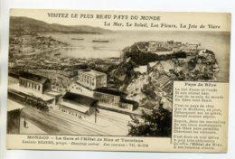 06 MONACO  Publicité Pour HOTEL De Nice Casimir Bojero Prop - Pres De La Gare  1920     --/D14-2017 - Monaco