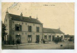 28 BROU La Gare Des Voyageurs Charettes Et Cariole Ane En Attente  1906 Timb     - -/D14-2017 - Other Municipalities