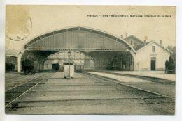 34 BEDARIEUX  La Marquise De La  Gare  Quais Voies  1905 écrite      - -/D14-2017 - Bedarieux