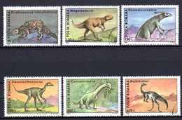 ROUMANIE ANIMAUX PREHISTORIQUES 1994 (19) N° Yvert 4153 à 4158 Oblitérés Used - Usati