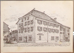 Schweiz Suisse 19??:  Bild-PK CPI Gasthof Gemeindehaus 8217 Wilchingen Mit Stempel RADFAHRER KP. III/5 +FELDPOST - Military Post