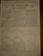 La Semaine Des Constructeurs. N°14.5 Octobre 1878. Wagonnets à Bascule. Brouettes à Coffre Et à Barres Tout En Fer. - Livres, BD, Revues