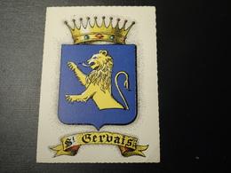 CP Carte Postale Blason écusson Vintage Saint Gervais (Haute Savoie)  Wappen Coat Of Arms Stemma - Obj. 'Remember Of'