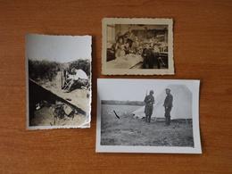 ILE DE GROIX  WW2 GUERRE 39 45 BRETAGNE ECOLE ACCORDEON REPAS CHAMPAGNE TENTE COURRIER  SOLDATS ALLEMANDS - Groix