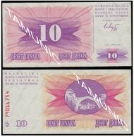 BOSNIA AND HERZEGOVINA 10 Dinara 1992 UNC  - SECOND ISSUE - Bosnia Erzegovina