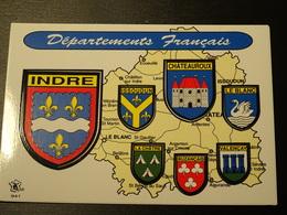 CP Blason écusson Adhésif Autocollant  Indre Chateauroux Le Blanc Issoudun Aufkleber Wappen Sticker Adesivo Stemma - Obj. 'Remember Of'
