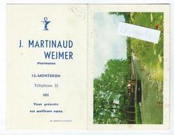 "MONTBRON (16) - ""J. MARTINAUD WEJMER"" Pharmacien - (Péniche ""Costes"") - Calendrier Publicitaire 1970 - Calendriers"