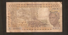 WEST AFRICAN STATES 1000 FRANCS 1985 K - Stati Dell'Africa Occidentale