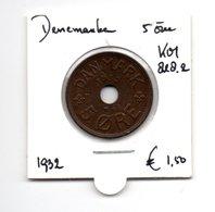 DENEMARKEN 5 ORE 1932 - Danemark