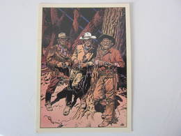 Carte Postale GIR CHARLIER BLUEBERRY Le Trio 1/3 - Bandes Dessinées