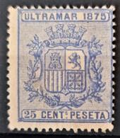 CUBA 1875 - MLH - Sc# 64 - 25c - Kuba (1874-1898)