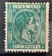 CUBA 1878 - MLH - Sc# 79 - 25c - Kuba (1874-1898)