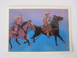 Carte Postale GIR CHARLIER BLUEBERRY La Chevauchée 1/2 - Bandes Dessinées