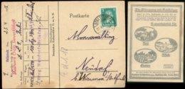 S7396 - DR Postkarte Werbung Kali: Gebraucht Sollstedt - Wiesmoor 1927 ,Bedarfserhaltung. - Brieven En Documenten