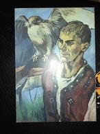 "Modern Ukrainian Postcard ""Falconry. FAUCON HUNTING"" By Saatchi-   Falco HALCONEROS / FAUCONNIER / FALCONER - Vogels"