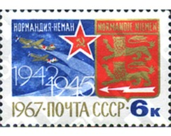 "Ref. 269926 * MNH * - SOVIET UNION. 1967. 25TH ANNIVERSARY OF THE FRENCH ""NORMANDIE-NIEMEN"" SQUADRON. . 25º ANIVERSARI - Aerei"