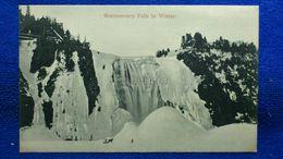 Montmorency Falls In Winter Canada - Montmorency Falls