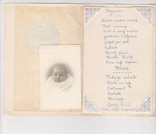 Menu Juin 1943 Enfant Garçon Fille  BOULVE Chalon Sur Marne  Photo Nicole - Menus