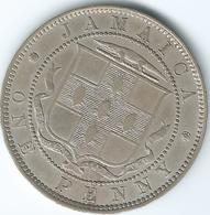 Jamaica - 1903 - Edward VII  - Penny - KM20 - Only 60,000 Minted. - Jamaica