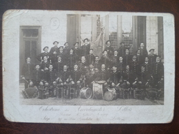 Carte  Photo Orchestrina Des Accordéonistes Lillois Siège 197, Rue Léon Gambetta    - LILLE - Lille