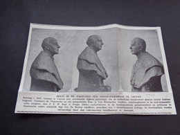 """Origineel Knipsel ( 3703 ) Uit Tijdschrift """" Ons Volk """"  1928  :   Leuven  Louvain - Vieux Papiers"""