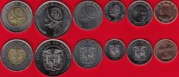 Panama Set Of 6 Coins: 1 Centesimo - 1 Balboa 2019 UNC - Panama