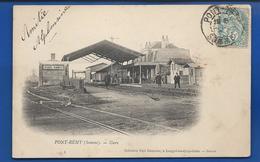 PONT-REMY   La Gare       Animées   écrite En 1906 - France