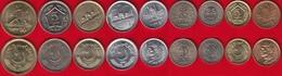 Pakistan Set Of 9 Coins: 25 Paisa - 10 Rupees 1980-2017 UNC - Pakistan