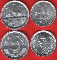 Pakistan Set Of 2 Coins: 1 - 2 Rupees 2019 UNC - Pakistan