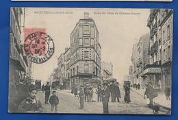 MONTREUIL-SOUS-BOIS   Rue De Paris Et Etienne Marcel          Animées   écrite En 1905 - Sonstige Gemeinden