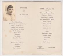 Menu Communion Communiante Religion 1938 Fille - BOULVE  Chalon Sur Marne Hautin Traiteur, Hotel Clochette - Menus