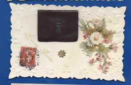 Carte  Découpi Fleurs  Et Almanache 1912    Bonne Année - New Year