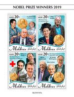 Maldives. 2020 Nobel Prize Winners 2019. (1107a)  OFFICIAL ISSUE - Premio Nobel