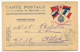 V - France - Carte Postale à L'usage Du Militaire Franchise Postale (guerre 14-18) - Entiers Postaux