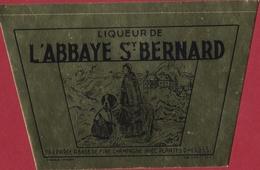 Liqueur De L'Abbaye St Saint Bernard Chien Dog Hond Sticker Autocollant  Aufkleber Adesivo - Alcohols