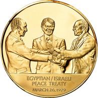 United States Of America, Médaille, Traité De Paix Israelo-Egyptien, Politics - USA