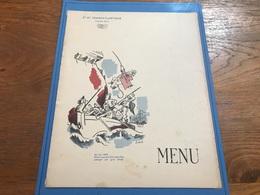 Menu Paquebot De Grasse Croisière En Mer Noire 14 Août Au 7 Septembre 1935 - Menus